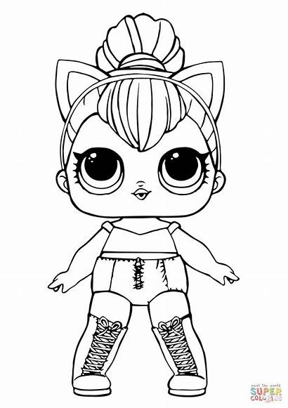Coloring Lol Kitty Doll Queen Pages Printable