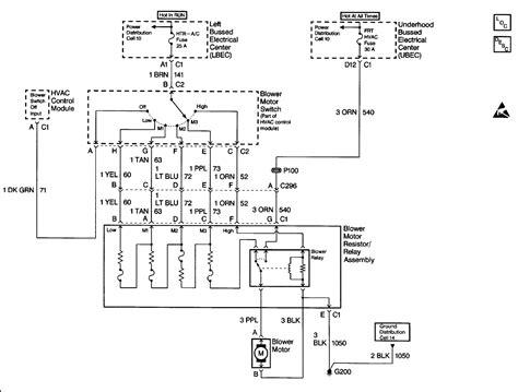 Wiring Diagram For 1999 Chevy Silverado by I A 1999 Silverado 1500 2wd 4 8l Blower Motor