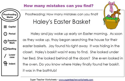 easter editing activity how many mistakes can you find in