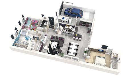 chambre en 3d plan de chambre en 3d maison moderne