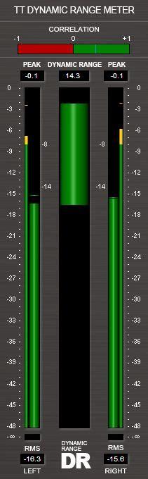 tt dynamic range meter le mastering