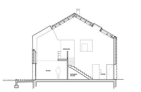plan de coupe maison a wooden house in beetween simplicity and sculpture
