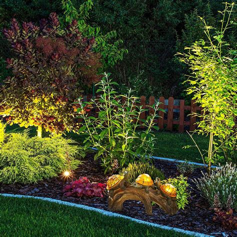 Solar Power Garden Decoration L by Solar Powered Garden Decor Outdoor Turtle Log Decoration