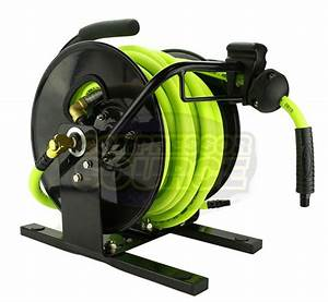 Flexzilla Portable Manual Open Face Air Hose Reel 3  8 In