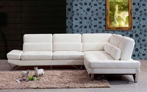 contemporary white leather sofa modern white leather sectional sofa vg833 leather sectionals