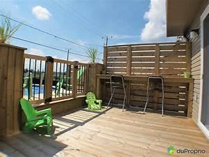 construire patio piscine hors terre recherche google With modele de terrasse en bois exterieur 4 ecran dintimite exterieur patio du nord