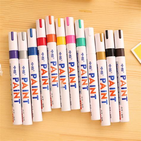 markers paint marker for sharpie 12 colors tyre permanent paint pen tire metal outdoor marking