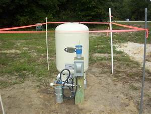 Trring To Hide A Outdoor 80 Gallon Well Water Pressure Tank
