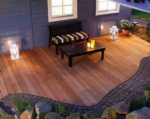 Terrasse Holz Stein : terrasse holz stein holzterrasse garten terrasse und wohnung balkon garten ~ Watch28wear.com Haus und Dekorationen