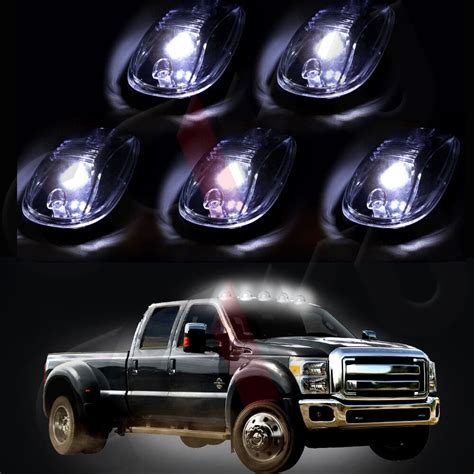 Clear Led Cab Roof Top Marker Running Light Free Blub