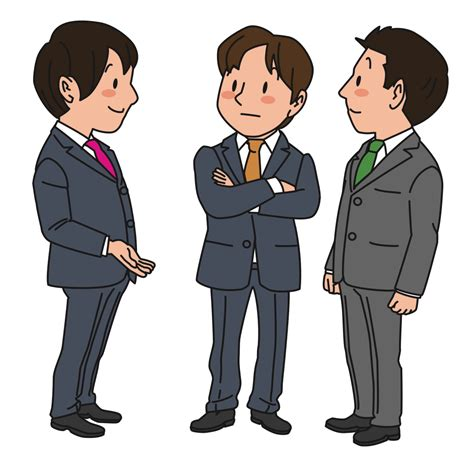 Businessman Clipart Onlinelabels Clip Chatting Businessmen