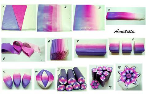 comment faire une fleur violette en fimo tuto fimo net