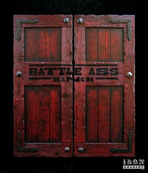 hand  custom swinging saloon doors  iron anarchy
