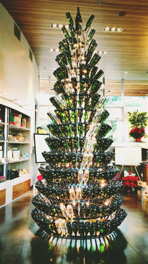 christmas tree made from wine bottles wine wankers wine bottle tree the wine wankers