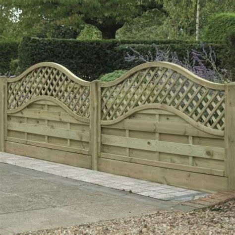 Curved Trellis Fencing by Omega Lattice Trellis Fence Panel Pressure Treated Free