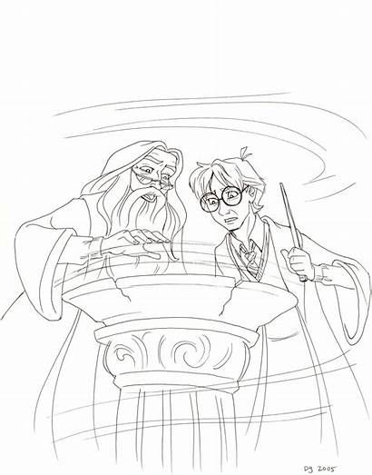 Harry Potter Dumbledore Prince Blood Half Drawing