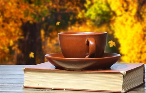 Wallpaper Autumn, Coffee, Cup, Book, Cup, Coffee, Books Nestle Coffee Sachets Derbyshire Machine Jamaica Starbucks Prices Canada Gold Review Gift Driftwood Table South Africa Bd
