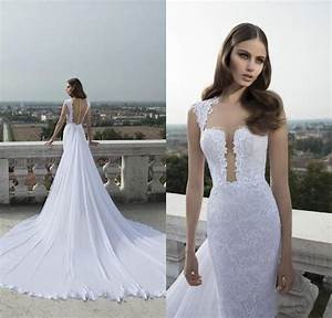 discount 2015 hot neck lace wedding dresses with sheer With wedding dresses for the beach 2015