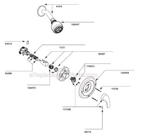 tub spout diverter moen l82694 parts list and diagram ereplacementparts com