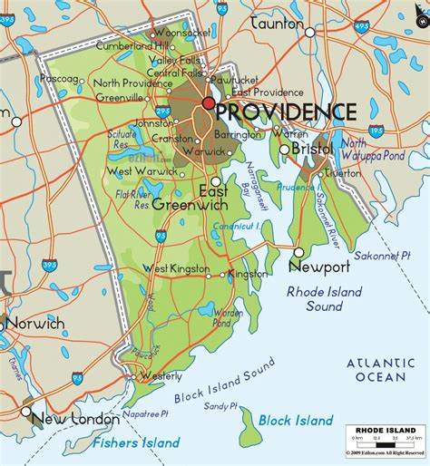 rhode island metro map travelsfinderscom