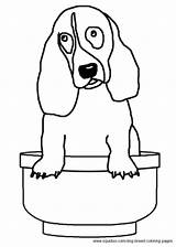 Coloring Hound Basset Pages Dog Breed sketch template