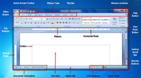 Microsoft 2010 Word Labeled Diagram by Microsoft Word For You