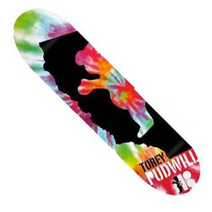 plan b torey pudwill tie dye grizzly deck in stock at spot skate shop