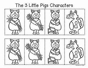 characters three little pigs little pigs retelling a With the three little pigs puppet templates