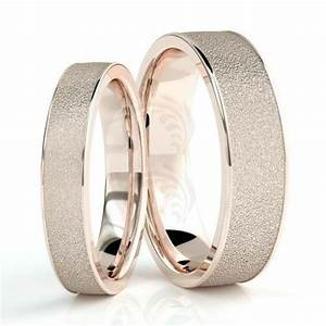 10k rose gold polish sandstone couples wedding rings 4mm With wedding rings for both