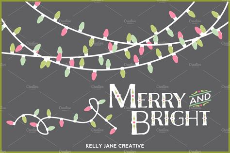 pastel christmas lights vector illustrations creative market