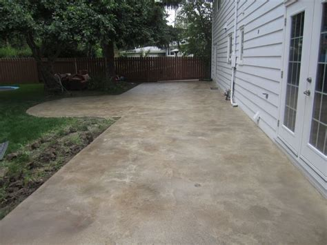 concrete patios overlays and patio on