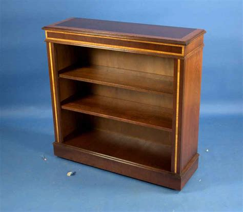 Low Bookcases For Sale by Antique Style Small Mahogany Open Bookcase For Sale