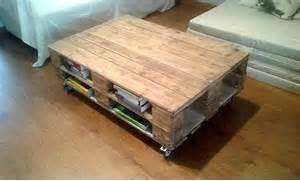 Pallet Coffee Table  Multi Functional  Pallet Furniture DIY