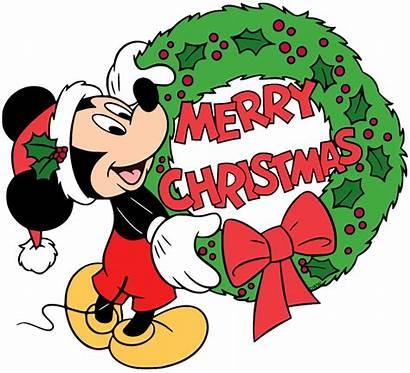 Mickey Christmas Merry Clip Mouse Disney Santa