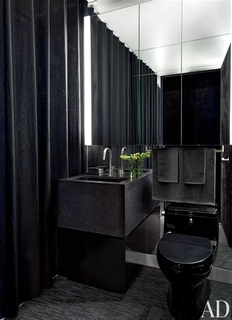 blacker  sexy black bathrooms