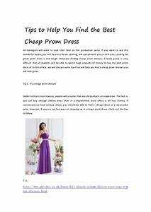 Tips to help you find the best cheap prom dress