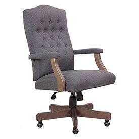 chairs fabric upholstered classic slate gray