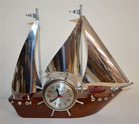 2 Vintage Mastercrafters Nautical Theme Mantel Clocks 1