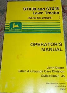 Buy John Deere Stx38  U0026 Stx46 Lawn Tractor Operator U0026 39 S