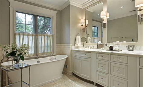 Bow Front Bathroom Vanity by Ivory And Gray Bathroom Traditional Bathroom