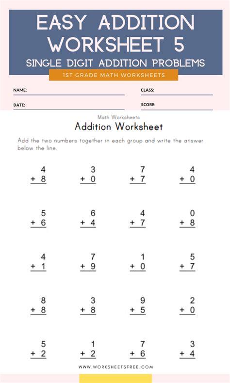 grade  math addition worksheets tutorial worksheet