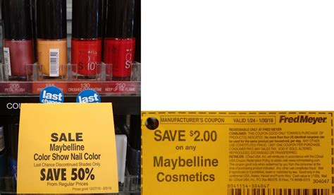 fred meyer l shades score free maybelline new york color show nail color at