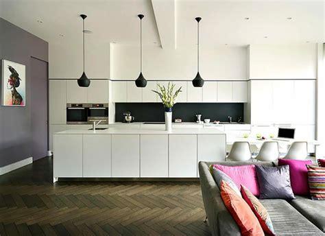 luminaire cuisine moderne ambiance cosy par le luminaire led dans une cuisine