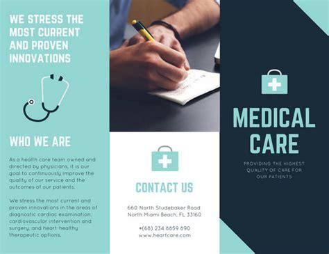 customize  medical brochure templates  canva