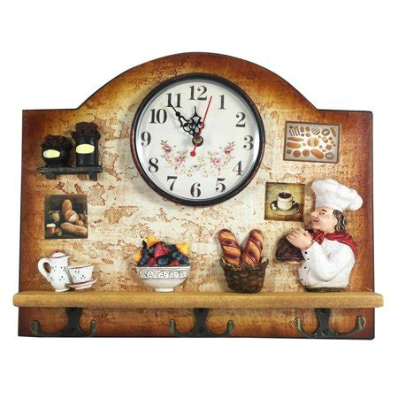 Kitchen Gifts For Home Chef by Heartful Home Italian Chef Wall Decor Clock With Key