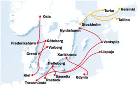 Fähren Ostsee Karte