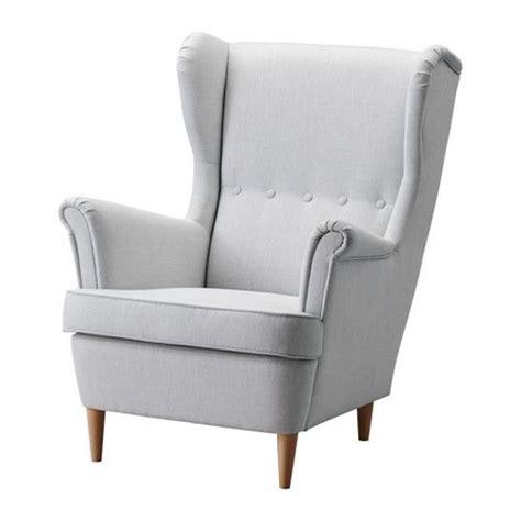 Lightweight Armchair by Strandmon Wing Chair Nordvalla Light Gray Ikea 279