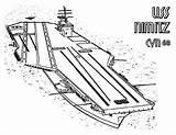 Carrier Coloring Aircraft Ship Nimitz Cvn Uss Enterprise Navy Template Sketch Coloringsky sketch template