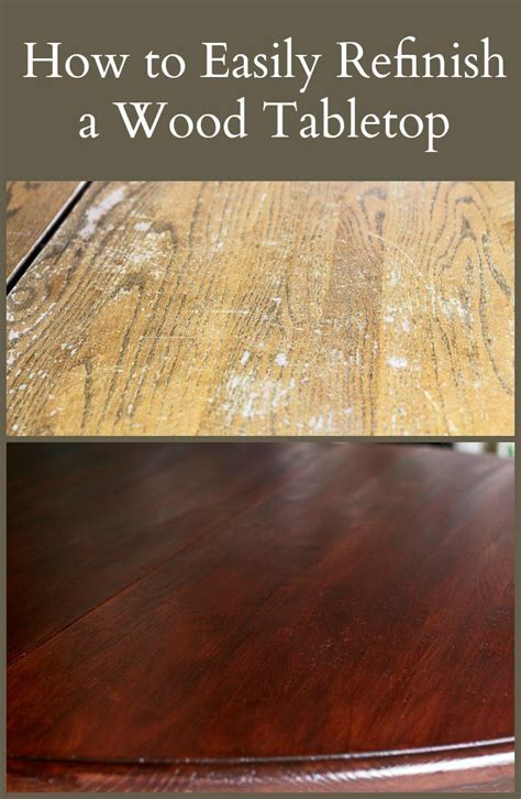 easily refinish  wood tabletop wood refinishing