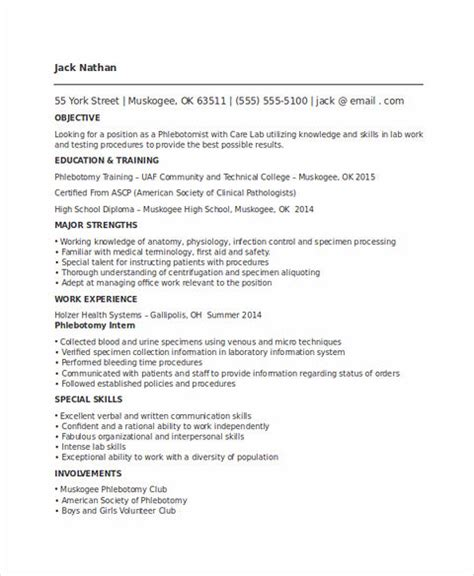 Phlebotomy Resume entry level phlebotomist resume sarahepps